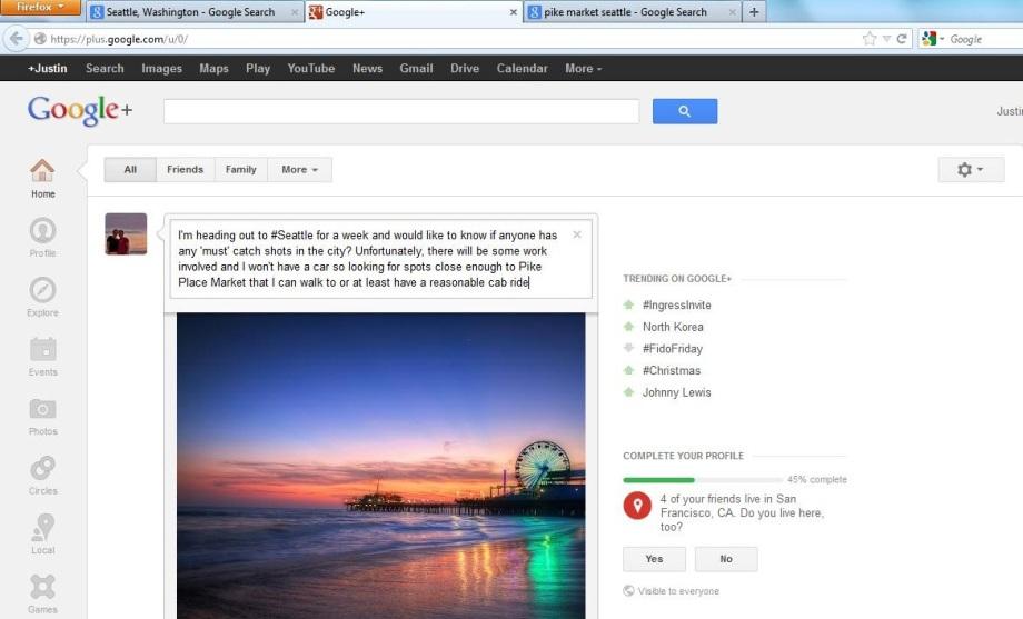 Google+ Question